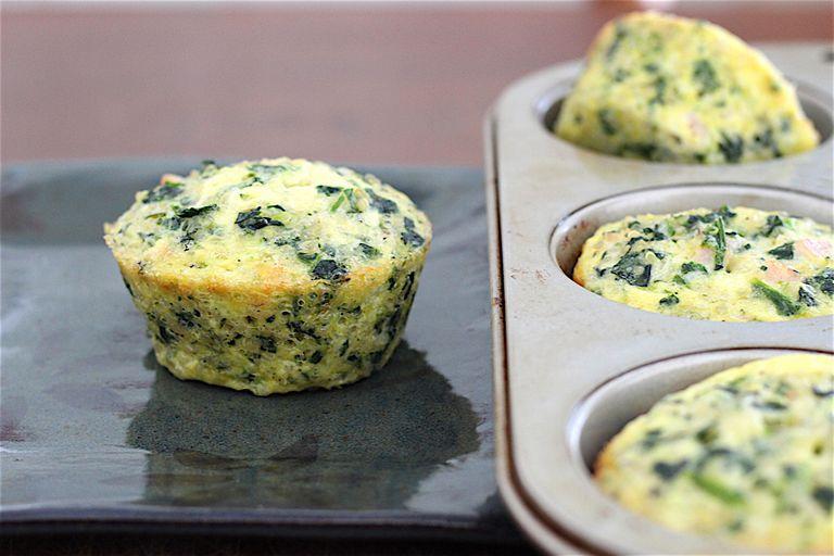 Spinach and Quinoa Breakfast Mini Quiches
