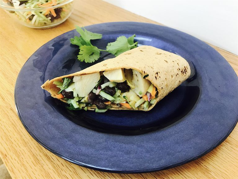 veggie slaw wrap