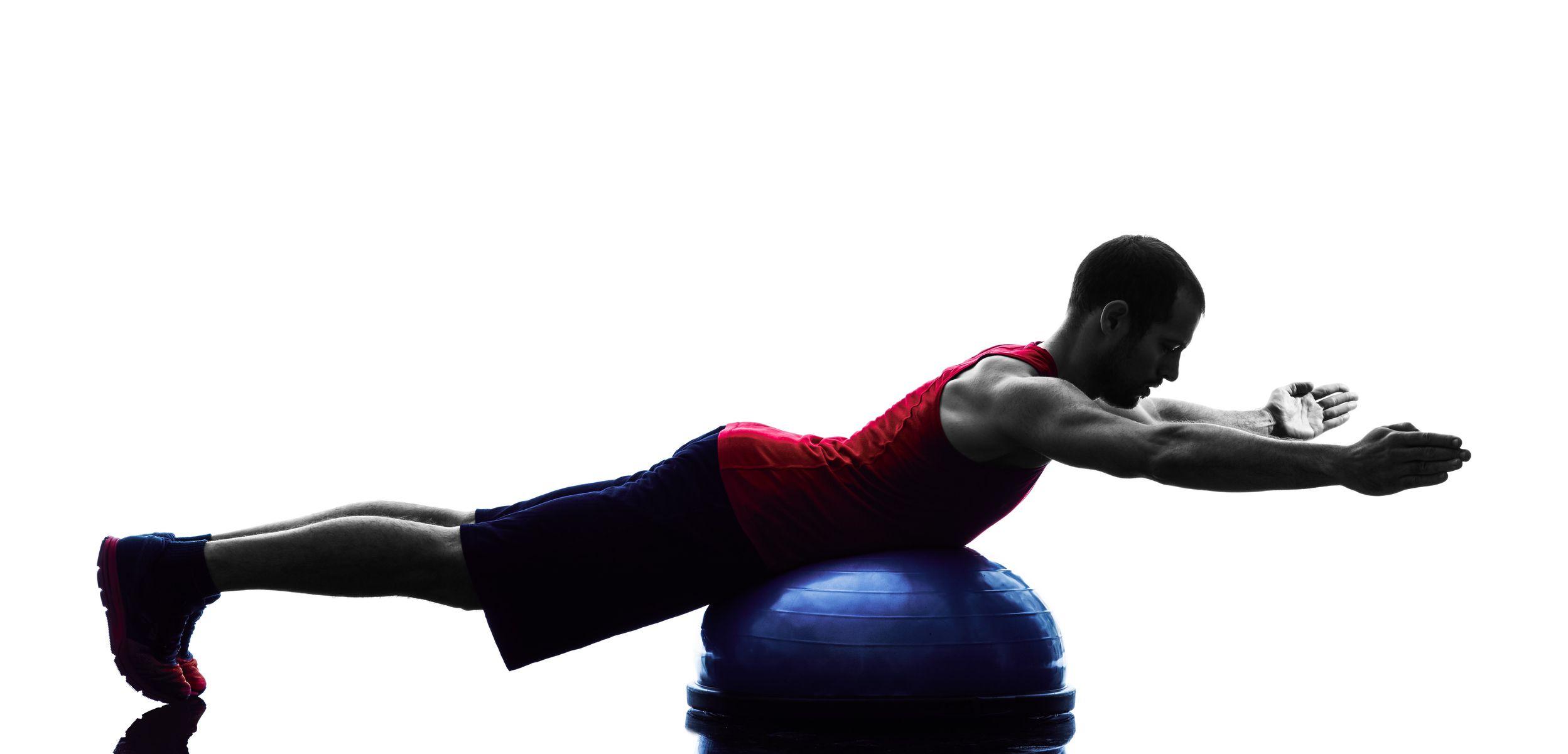 BOSU ball back extension