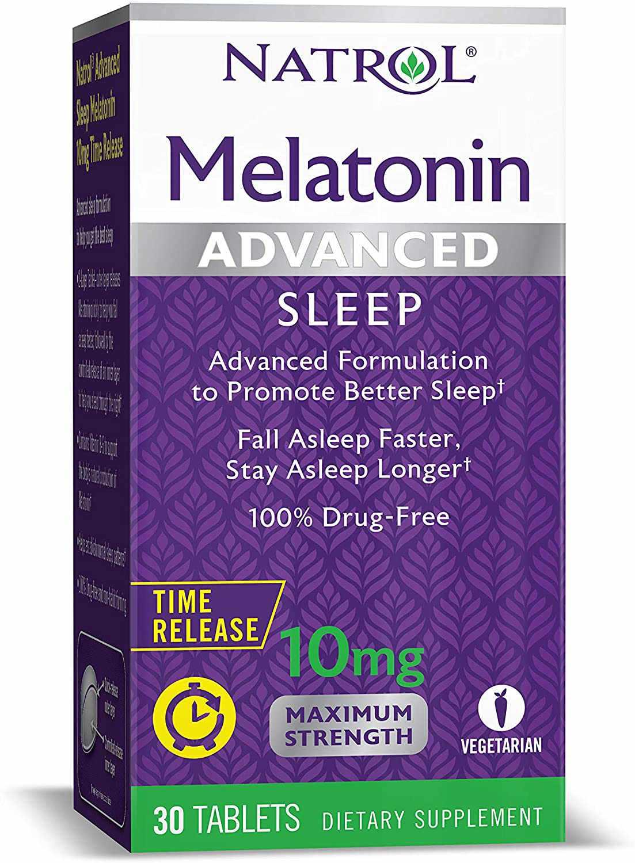 Natrol Melatonin Advanced Sleep Tablets with Vitamin B6