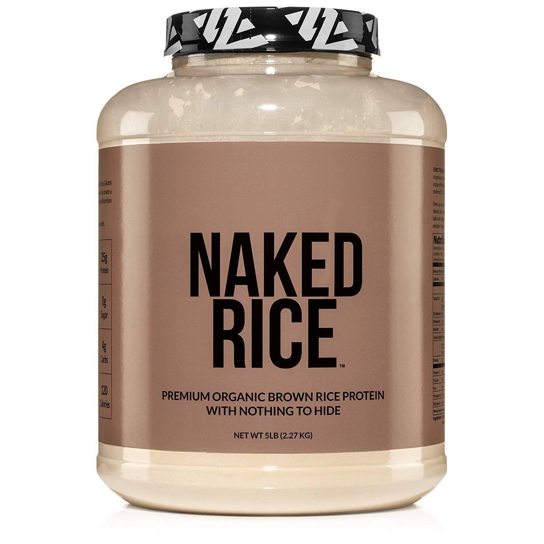 polvo de proteína de arroz desnudo