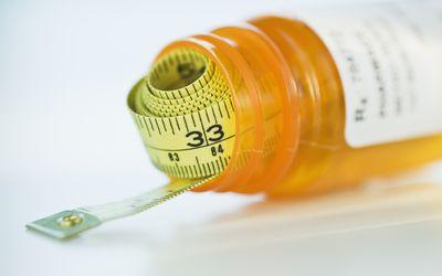 Tape measure in prescription bottle