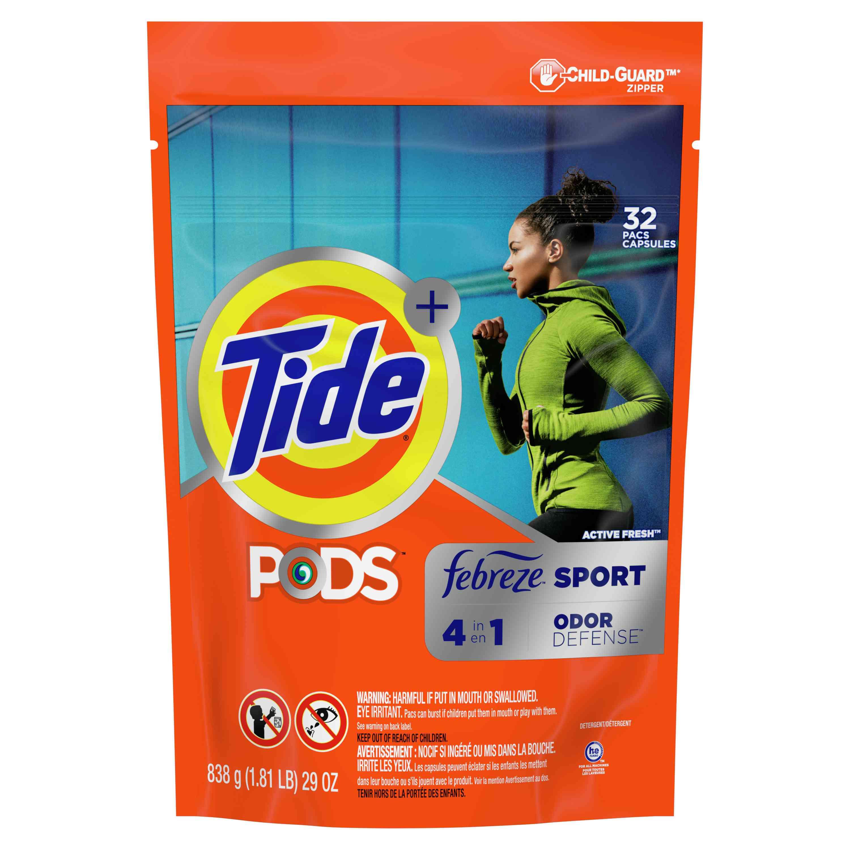 Tide Pods Febreze Sport Odor Defense Laundry Detergent