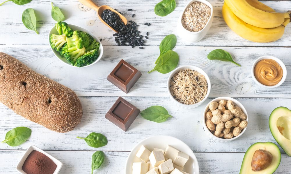 Magnesium-rich foods - stock photo