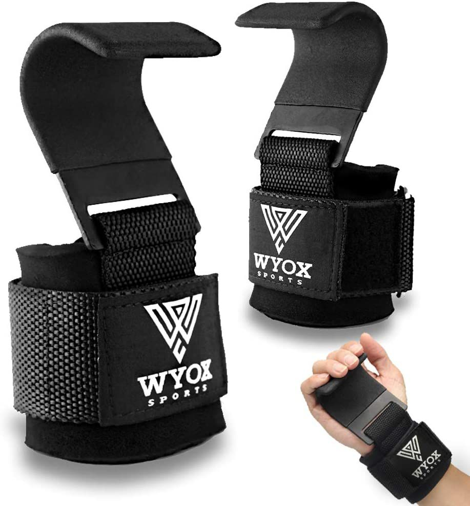 WYOX Professional Lifting Straps and Heavy Duty Hooks