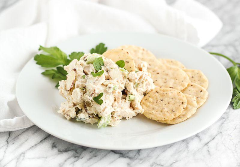 Greek Yogurt Almond Chicken Salad