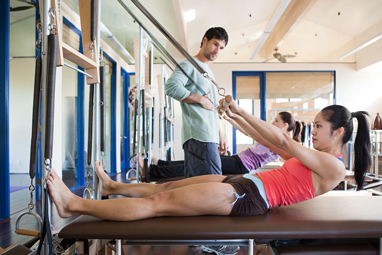Beginner Pilates Reformer Workout in Photos