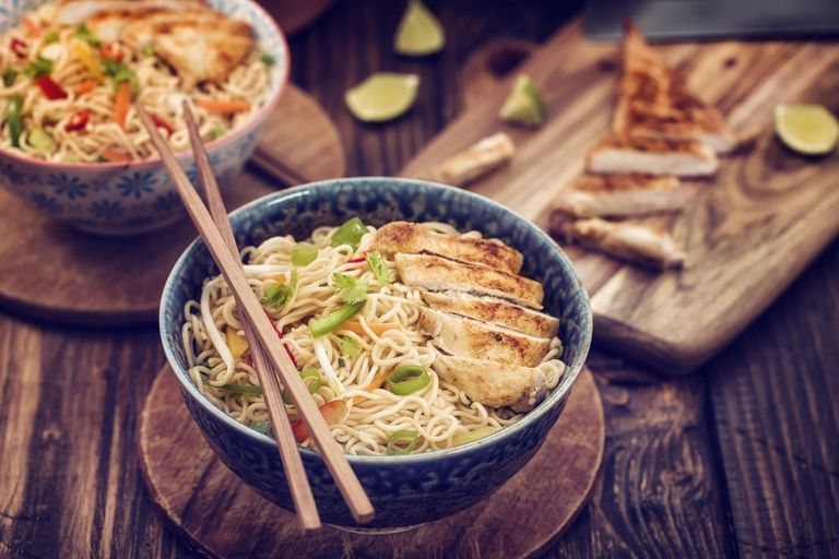 Asian Chicken Noodles Stir Fry