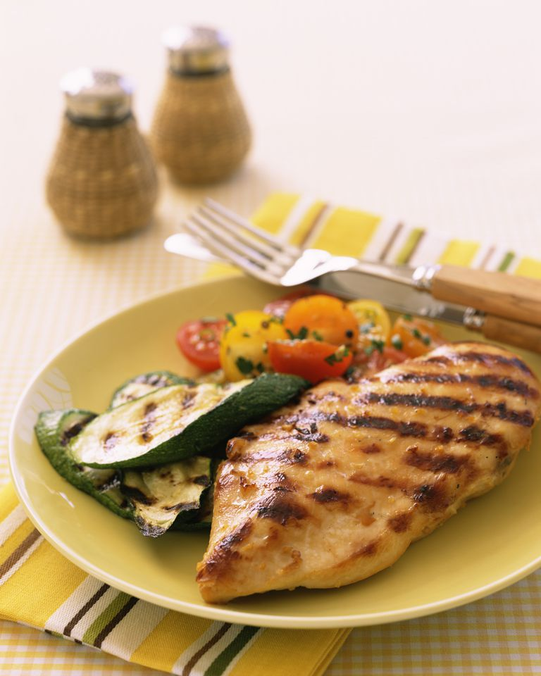 Chicken breast with zucchini and tomatoes