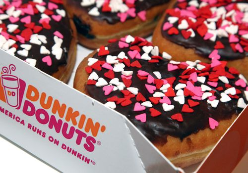 Dunkin' Donuts Heart-Shaped Donuts