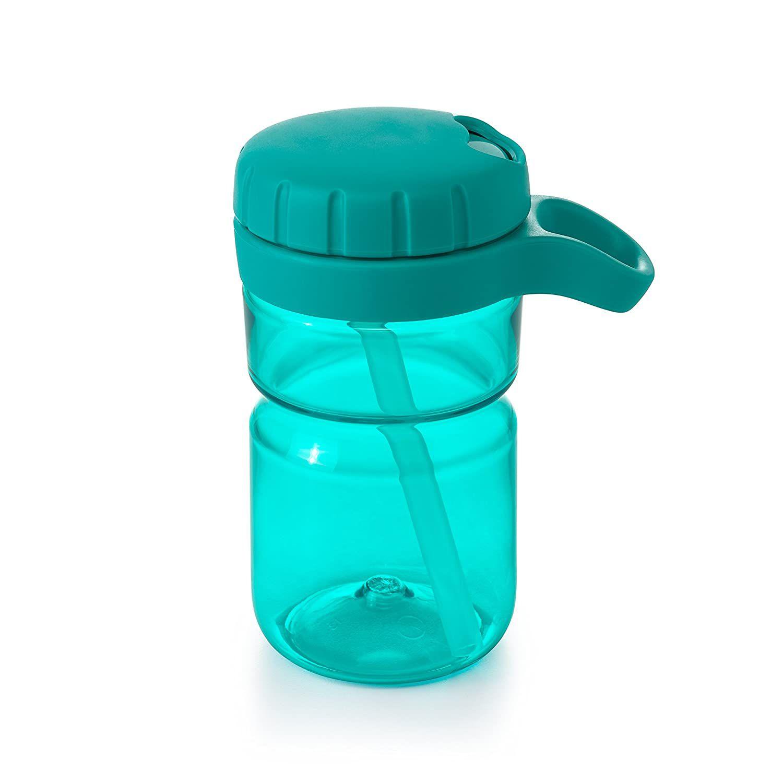 OXO Tot Twist Lid Water Bottle for Big Kids 12 Oz Aqua