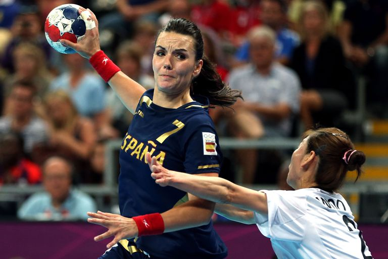 A handball match during the 2012 London Olympics.
