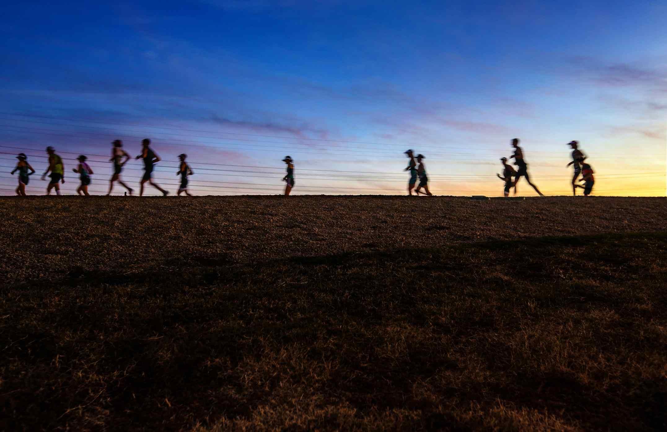 Corredores de maratón en Arizona