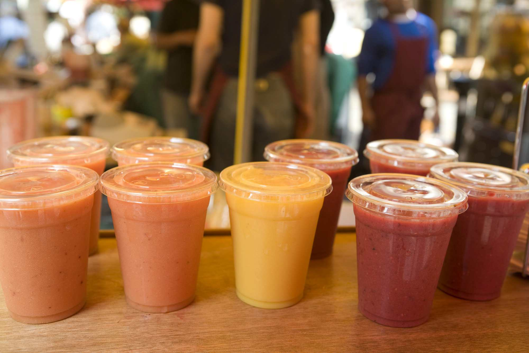 Several to go cups of smoothies
