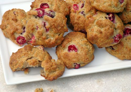 gluten-free cranberry walnut cookies