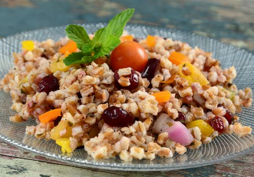 wheat berries in a salad
