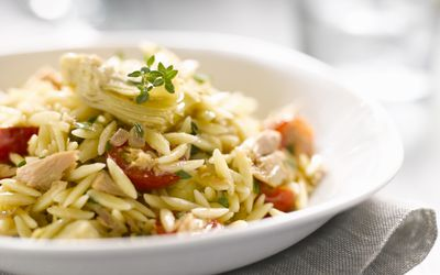 orzo with chicken and tomatoes