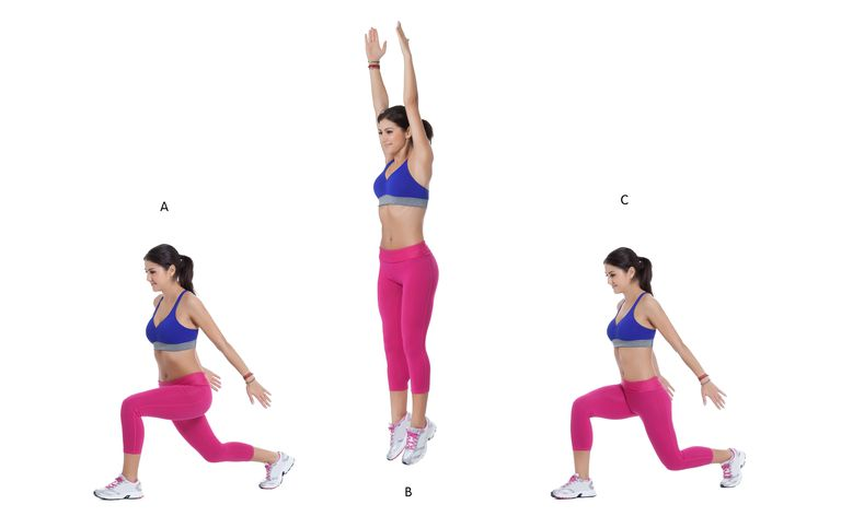 Image result for JUMPING LUNGES