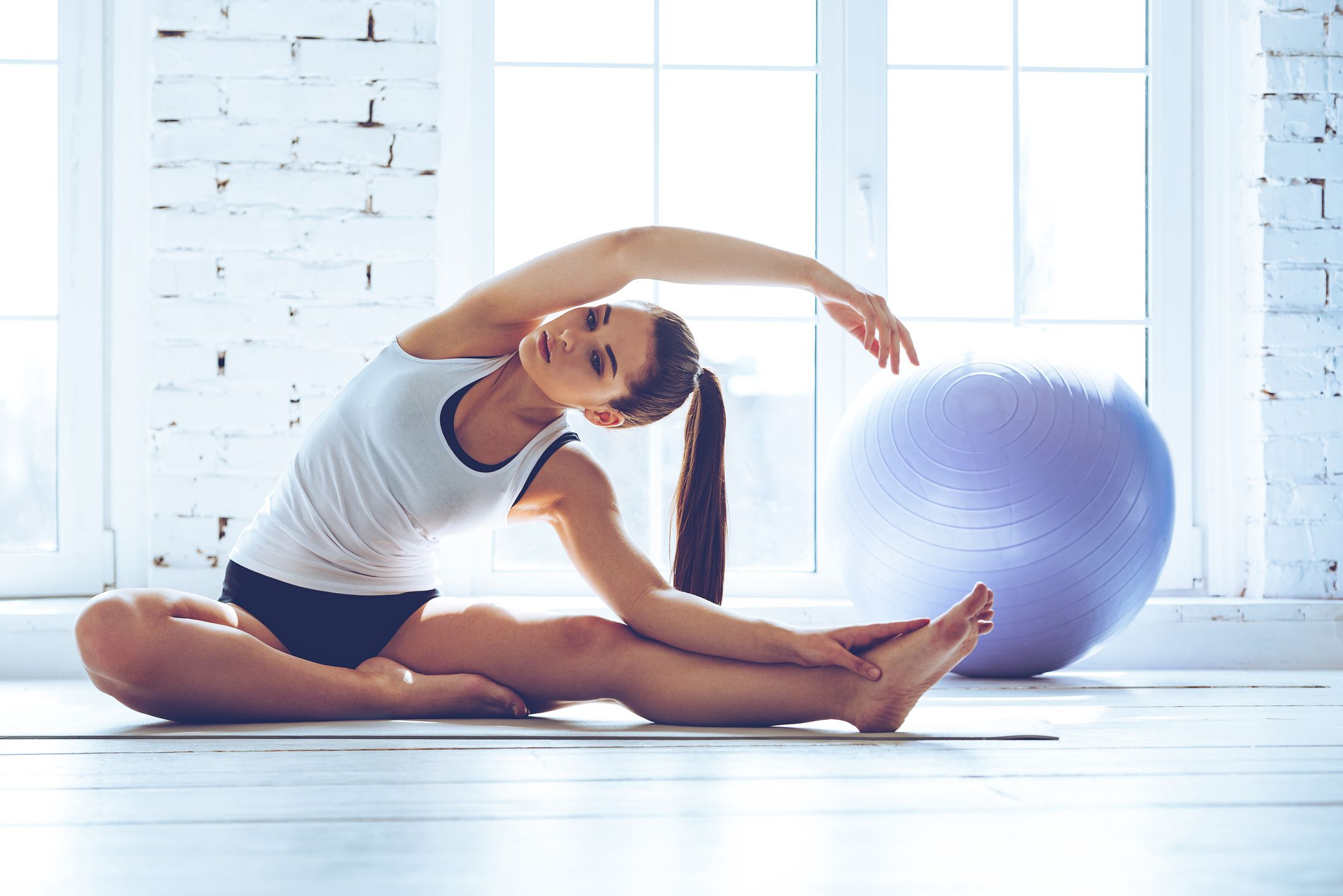 Abs, Hips, and Thighs With the Exercise Ball and Medicine Ball