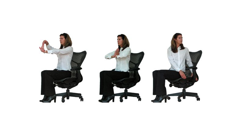 Wrist and Back Stretch Office