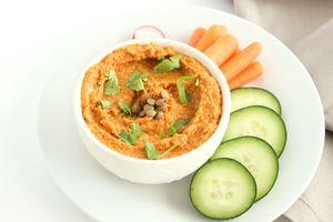 Roasted Red Pepper Lentil Hummus