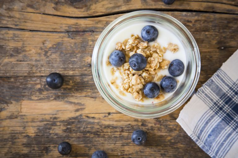 A simple meal plan to lose weight yogurt with granola and blueberries ccuart Image collections