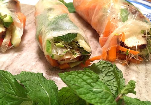 Low-FODMAP Spring Rolls