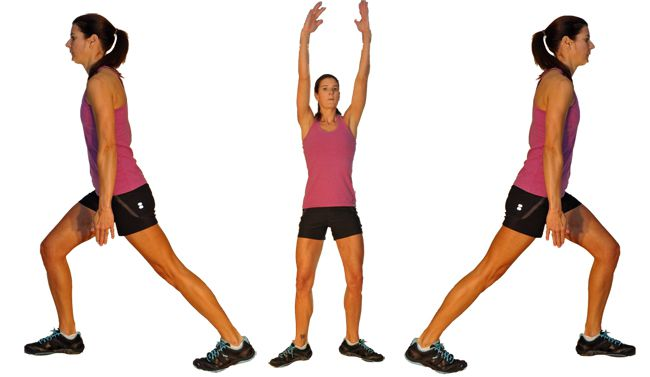 Low impact jumping jacks with rainbow arms