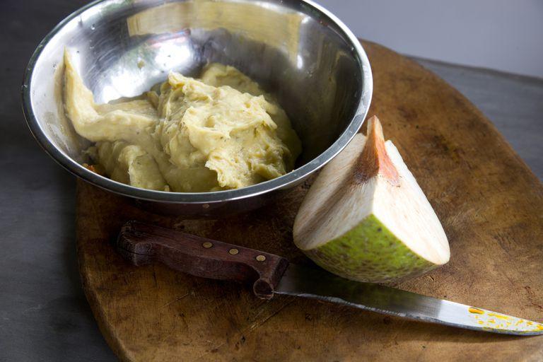 raw breadfruit