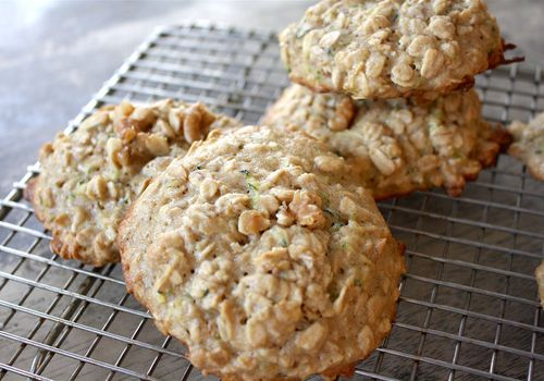 zucchini walnut breakfast cookies