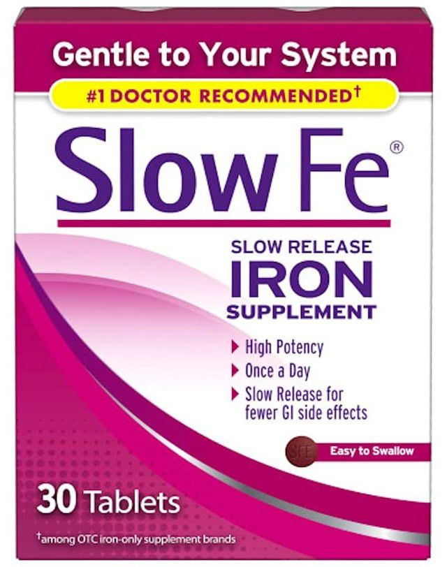Slow Fe Slow Release Iron Supplement Tablets