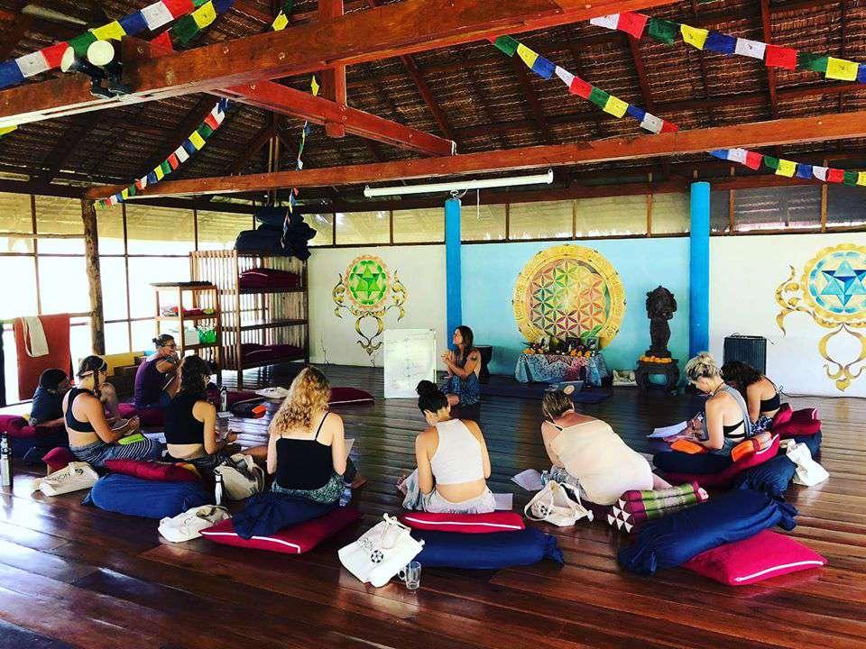 Una respiración de yoga