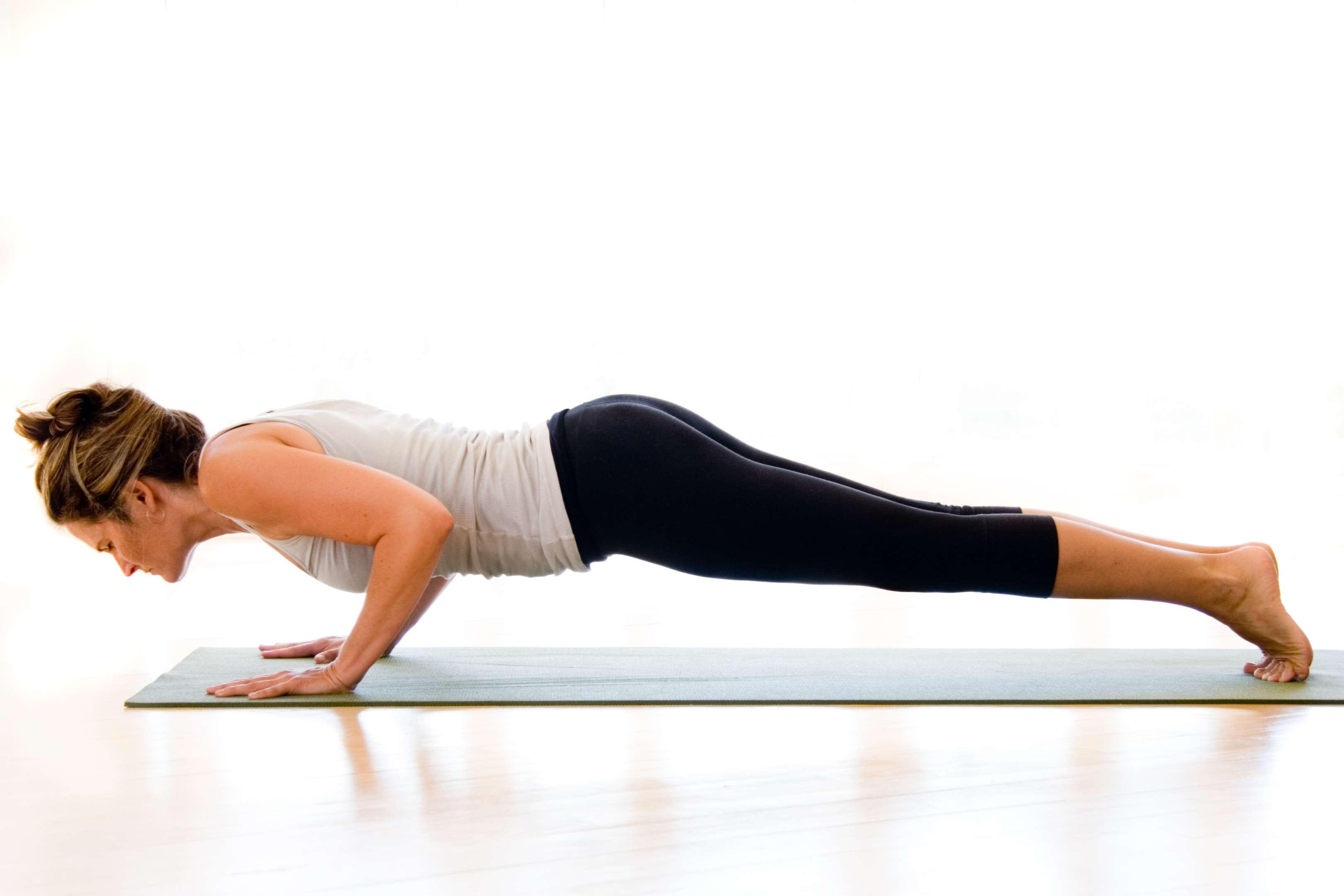 How to Do Low Plank (Chaturanga Dandasana)