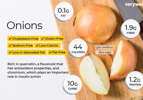información nutricional de cebolla y beneficios para la salud