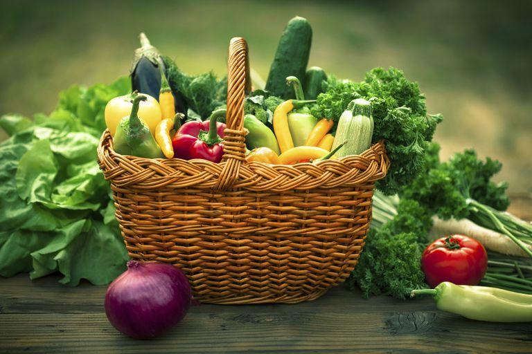 basket of summer vegetables