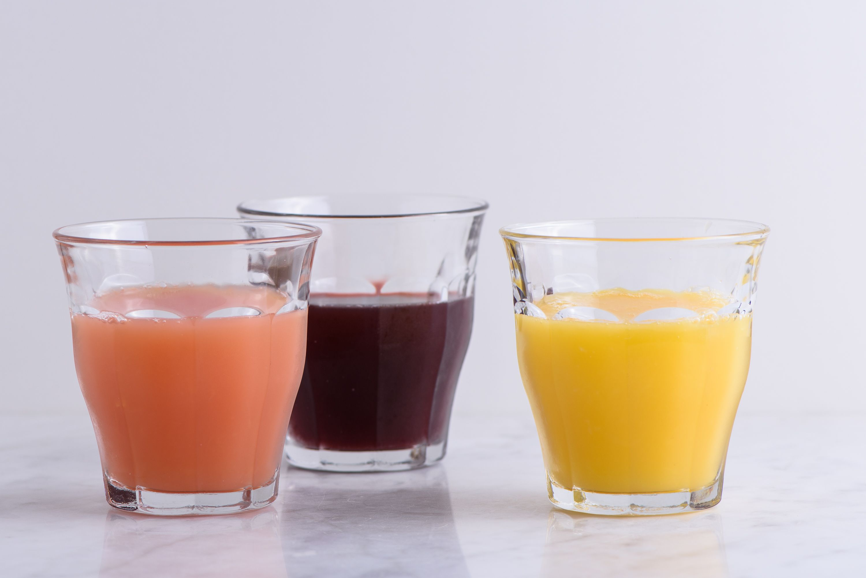 using canned or boxed juices for liquid diet