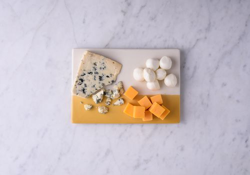 Different types of cheeses.