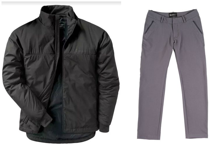 men's athleisure pants and jacket
