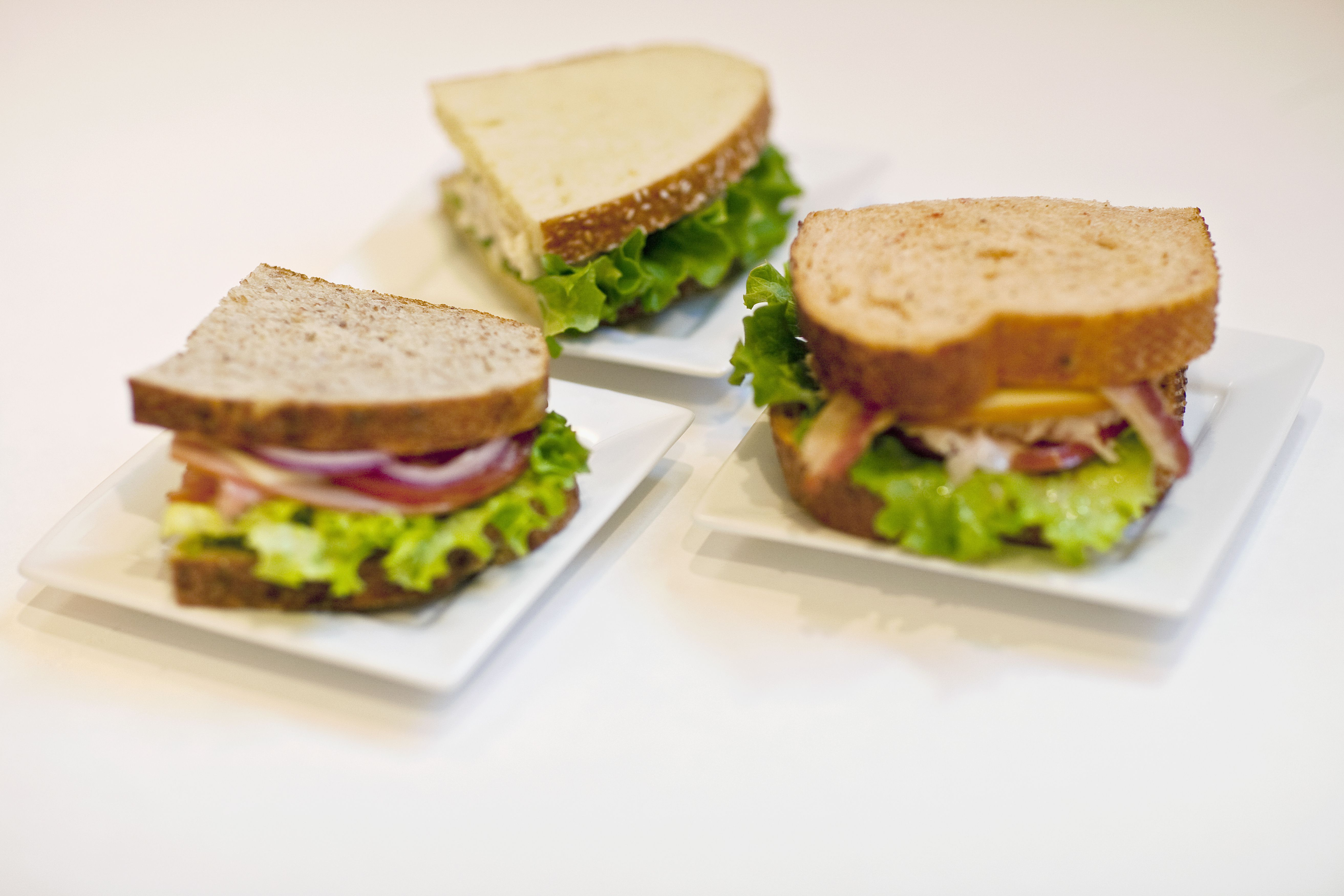 Healthy sandwiches make for a quick meal.