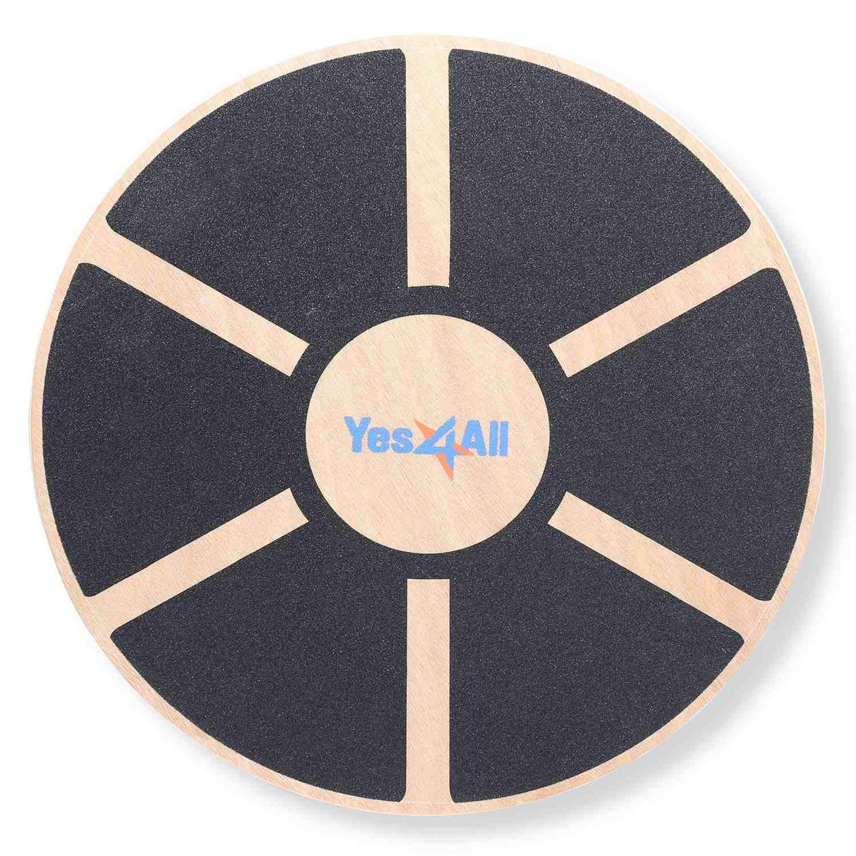 Yes4All Tabla de equilibrio oscilante de madera