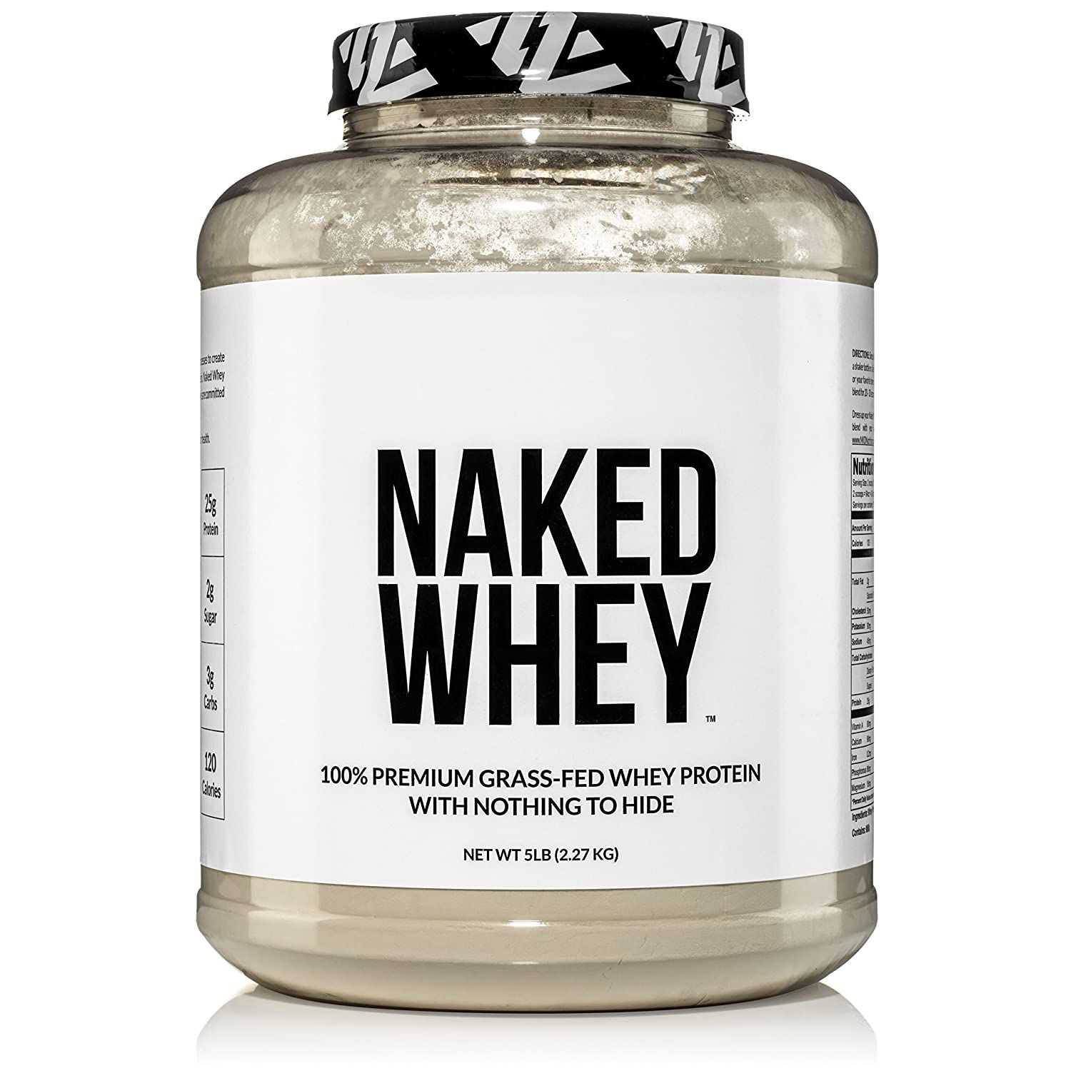NAKED nutrition Naked Whey 100% Grass Fed Unflavored Whey Protein Powder