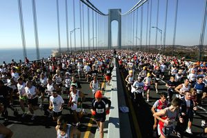 Runners in the NYC Marathon