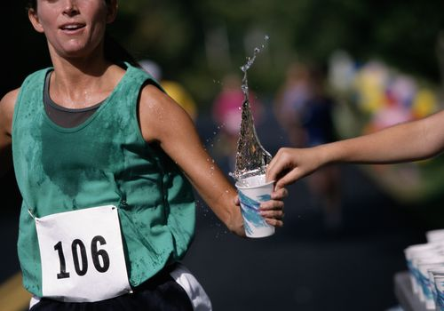 Hydrating while running