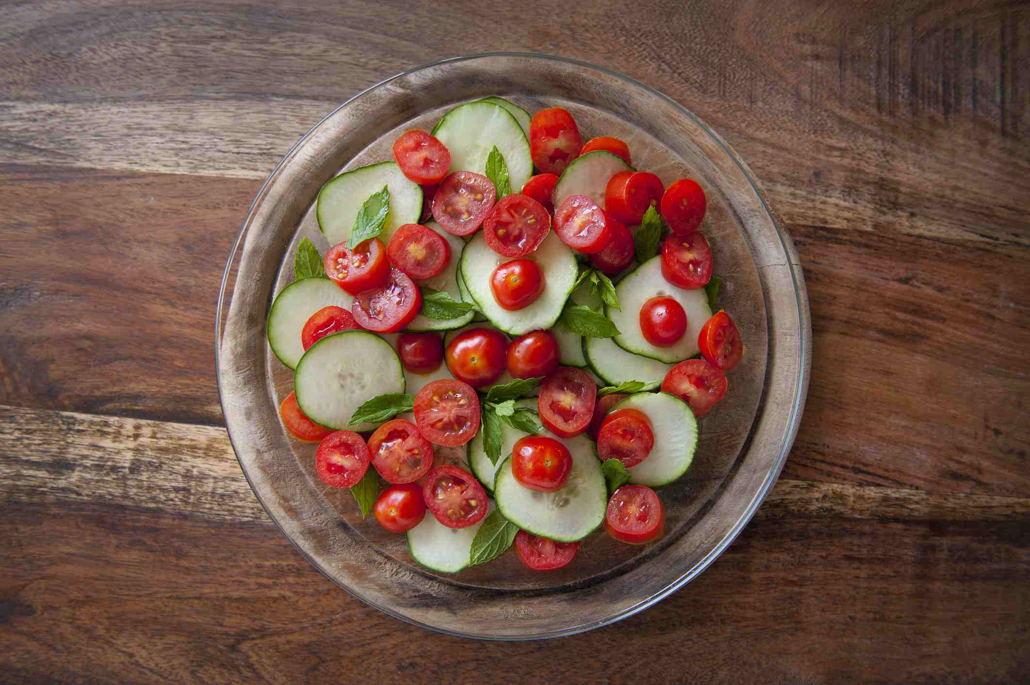 Cucumber and tomato salad is good for getting more tomatoes into your diet.