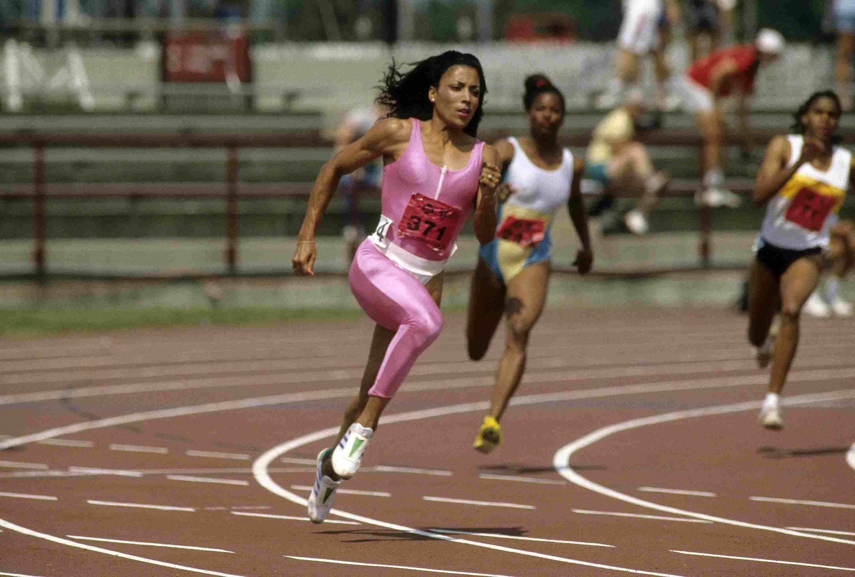 Florence Griffith Joyner en los Juegos Olímpicos de 1988.