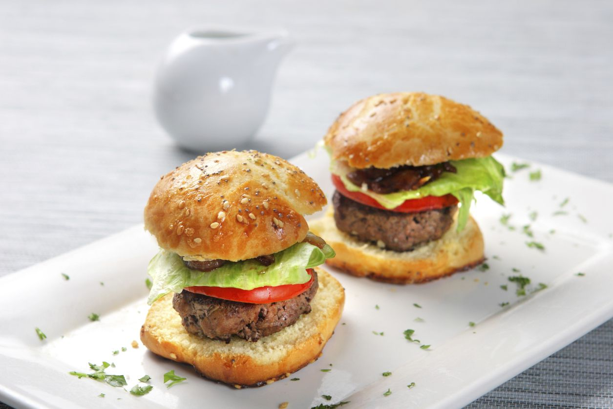Tiny burgers won't ruin your diet.