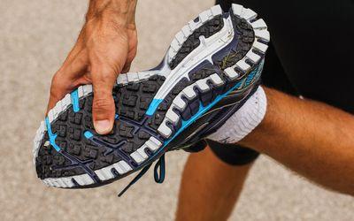 Man wearing sneakers and running socks