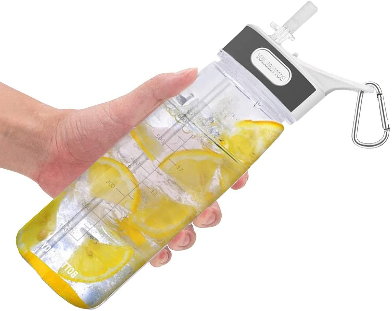 Bottled Joy Sports Water Bottle with Straw & Handle