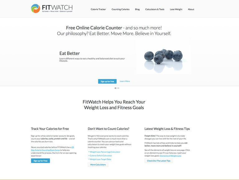 fitwatch online calorie tracker review