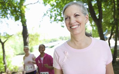 Breast Cancer Charity Walkers